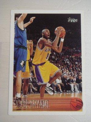 1996-97 Topps 湖人傳奇 黑曼巴 Kobe Bryant 超熱門 KEY RC (有傷)