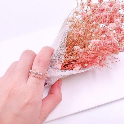 韓國❤️絕美 小花 鋯石 蝴蝶 造型 戒指【Verinas韓系美飾】