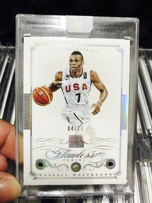 2014-15 Flawless Russell Westbrook USA Dream Team Diamond