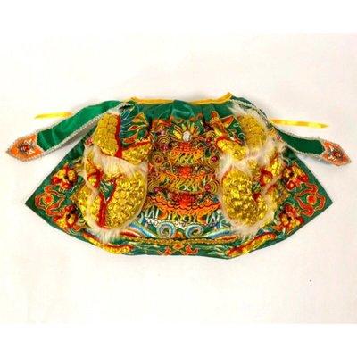 綠色特上衣龍袍/1尺3神明穿 (1尺2寸長) /關公/關聖帝君/神明衣