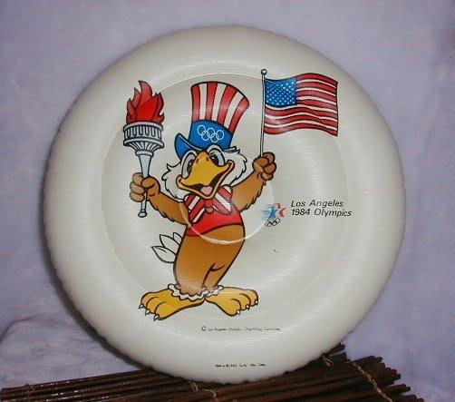 早期古董1984年洛衫磯奧運 山姆大叔充氣飛盤