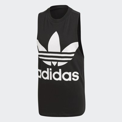 【Footwear Corner 鞋角 】Adidas OG Trefoil Tank Top Black 白三葉草背心