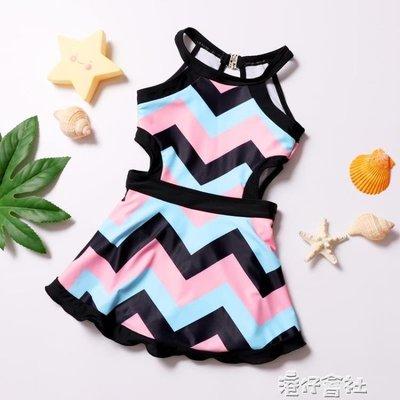 韓國兒童泳衣女孩連體公主裙式平角褲遮肚溫泉可愛公主