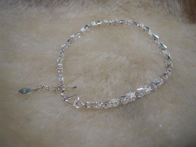 ※水晶玫瑰※ 990純銀鏤花手鏈(RD108)