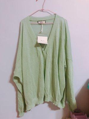 涼感針織外套 罩衫 粉色 藍綠色
