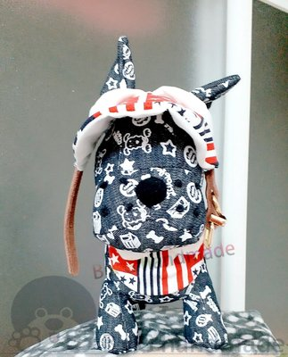 原創手作  寵物領巾  圍兜  現貨+訂製 ~小圓領印花帆布圍兜  帆船款   星星條紋款