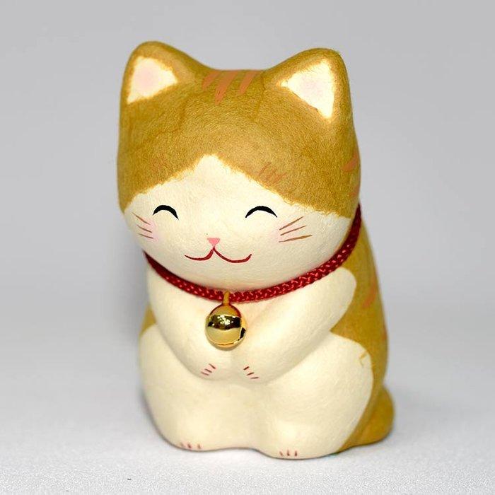 日本製 笑臉鞠躬 貓咪 吉祥物 和紙製