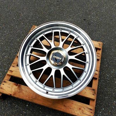 CR輪業 全新 RSM RF01 PLUS 19吋 旋壓輕量化鋁圈 鈦黑色車邊 5/100 5/112 5/114