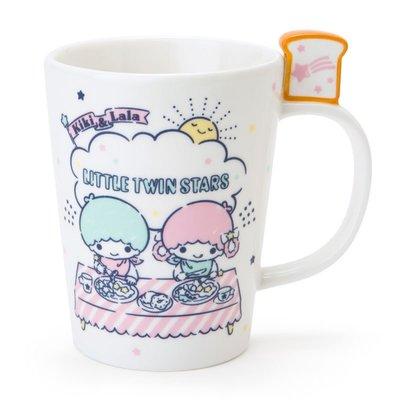 Sanrio 日本正版 Little Twin Stars 雙子星 陶瓷杯 馬克杯 咖啡杯 (Breakfast)
