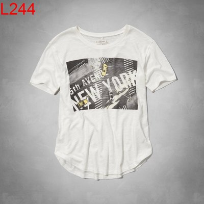 【西寧鹿】AF a&f Abercrombie & Fitch HCO 女 T-shirt 絕對真貨 可面交 L244