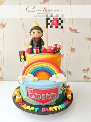 【Connie's Home Sweets】Baby boy x Mcqueen car raising 生日蛋糕 Birthday Cake 百日宴蛋糕 100 days cake