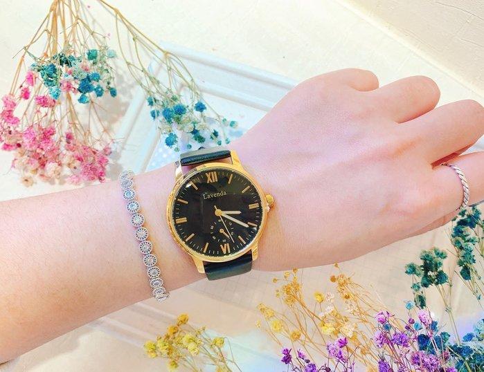 韓國❤️Lavenda 潮流指標 羅馬 刻度 金屬框 皮質 造型錶 手錶【Verina's韓系美飾】