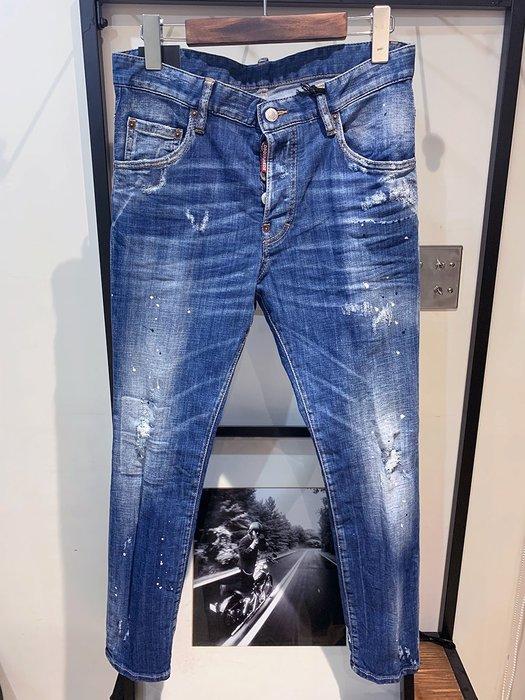 現貨【DSQUARED 2】2019春夏 水洗漆點SKATER牛仔褲 *40%OFF*