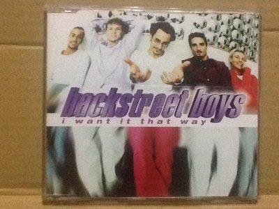 ~拉奇音樂~ 新好男孩 Backstreet boys  i want it that way 二手保存良好片況新。單。