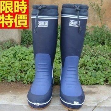 長筒雨靴 雨具-加厚棉裡保暖舒適防滑男雨鞋2色67a43[獨家進口][米蘭精品]