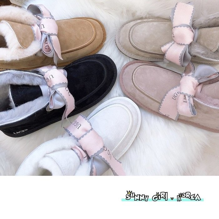 雪靴*Sunny Girl*澳洲UGG同廠真皮Kallen系列款綁帶羊毛短筒靴 2020一月新款 - [WH1446]