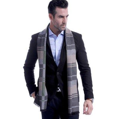 羊毛 圍 巾-英倫經典色塊格紋秋冬防寒男女披肩2色73ts22[獨家進口][巴黎精品]