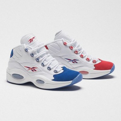 🅡'代購 Reebok Question Mid Ivaerson Double Cross 白藍紅 陰陽 FV7563 男女 限時特價