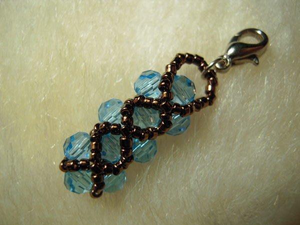 ※布箱子※ 串珠材料手作配件~日本進口SWAROVSKI皮包鏈.褲鏈.鑰匙圈等墜頭(B591)
