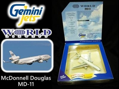 藍河馬X 金屬 飛機 模型 全新 GEMINI JETS WORLD McDonnell Douglas MD-11