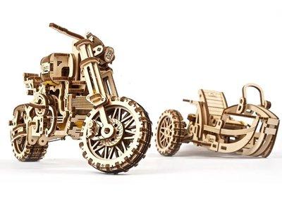 Ugears 靈魂騎士 Scrambler UGR-10 輕度越野車 DIY精密齒輪結構 環保木製模型