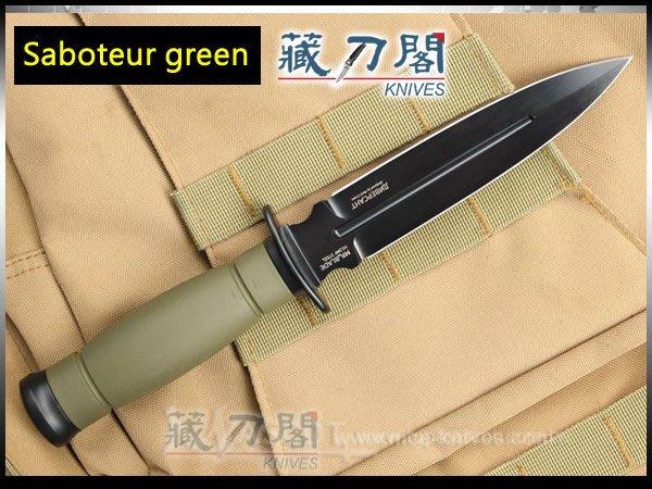 《藏刀閣》Mr.Blade-(Saboteur GD)破壞者綠柄戰術刀