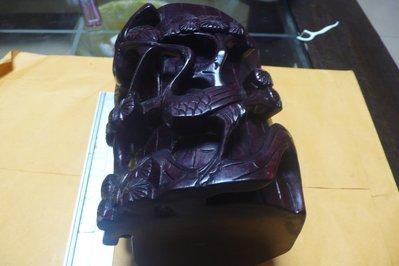 紫色小館88-----早期原木雕刻筆筒