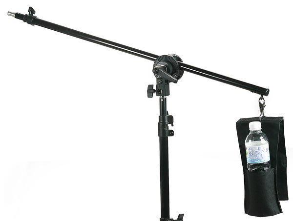 呈現攝影-小型延伸燈架 頂燈架 LS-06 燈架轉橫桿 二節 延伸桿支架 附水瓶袋 3/8公頭  離機閃