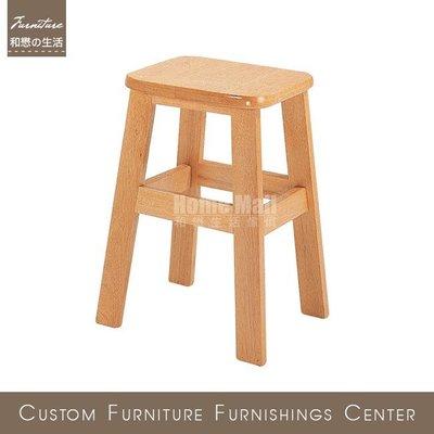 HOME MALL~1.5尺方古椅(自取)$399元(雙北市免運費)6N