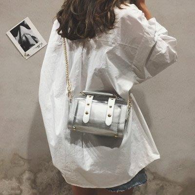 透明果凍包包女2018新款潮夏天小包包ins超火包鏈條包手提斜挎包