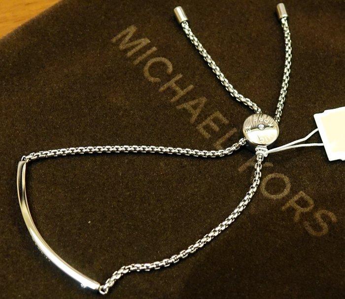 大降價!全新美國名牌 Michael Kors MK 高質感鋼製鑲水鑽手鍊手環,低價起標無底價!本商品免運費!