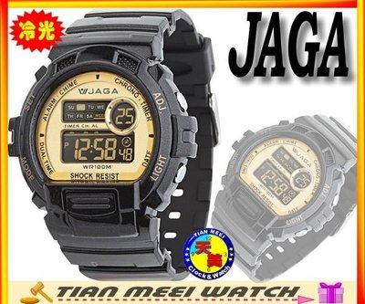 【全新原廠公司貨】【天美鐘錶店家直營】【下殺↘超低價有保固】JAGA-Shock系列多功能運動電子錶-M886黑金