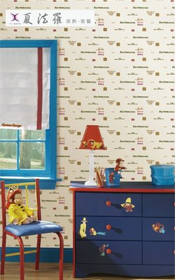【夏法羅 窗藝】英文塗鴉 可愛塗鴉 文字風 期貨壁紙 YLT-9216 共4色