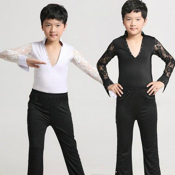 5Cgo【鴿樓】會員有優惠 38461905657 兒童成人拉丁舞演出表演服裝男童少兒拉丁服比賽服蕾絲款  兒童舞衣