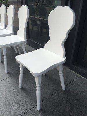 【Millet 烤白南法鄉村椅】 法式鄉村全實木白色餐椅 (化妝椅 休閒椅 書桌椅)
