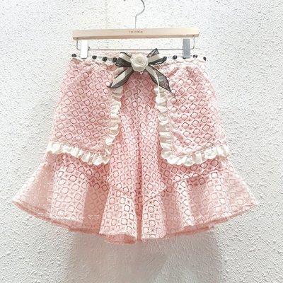 【莉莎小屋】正韓 春款新品(預購) 💝韓國連線代購-口袋邊蕾絲小荷下荷短褲 Twinkle👚👖 E210608
