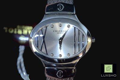 [ LUX SHO ] CHARRIOL 夏利豪 鋼絲帶氣質女錶 瑞士精品腕錶 全新法國代購 LSW-278