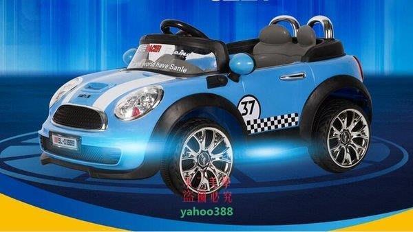 美學141寶馬款兒童電動車寶寶遙控小汽車四輪雙驅童車小孩玩具車可坐 201❖0876