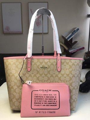 Alina精品代購COACH 寇馳 36658 大容量子母購物袋 PVC拼皮肩背包 子袋可拆卸 顏色3 美國代購