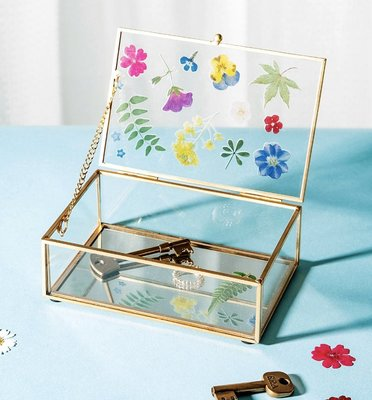 [SECOND LOOK]英國雜貨 金邊 彩繪壓花圖案 珠寶盒 珠寶架 收納盒 店面裝飾