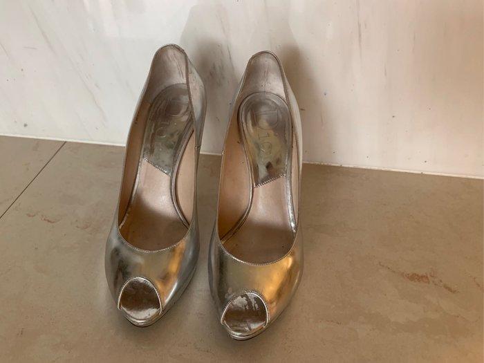 Dior 經典 魚口 高跟鞋 37.5
