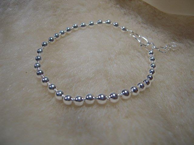 ※水晶玫瑰※ 990純銀圓珠手鏈(RD107)