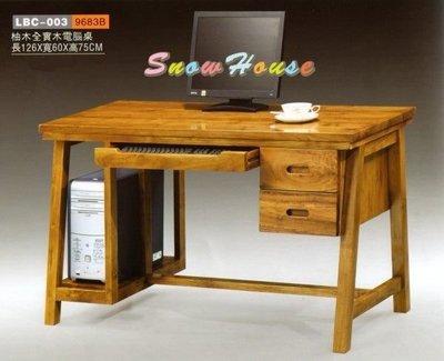 ╭☆雪之屋居家生活館☆╯77LBC-003 柚木全實木電腦桌/書桌/洽談桌/工作桌