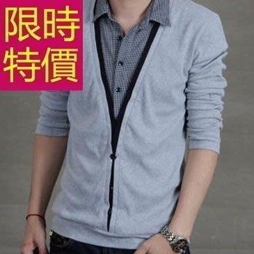 長袖毛衣熱銷焦點-優質隨性假兩件式男襯衫 2色59ac5[韓國進口][米蘭精品]