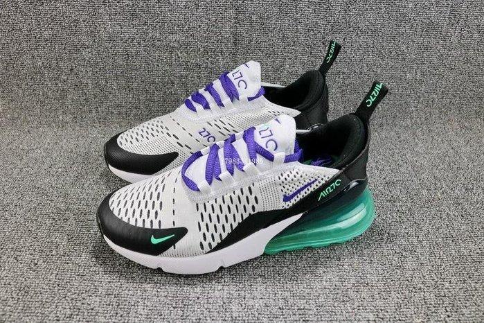 Nike Air Max 270 黑綠 氣墊 網面 經典 休閒慢跑鞋 男女鞋 AH6789 -103