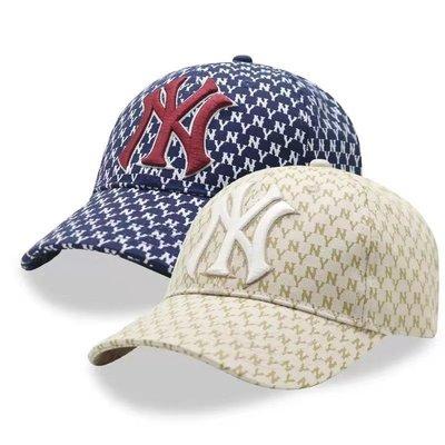 【PD帽饰】MLB LA帽/NY帽 洋基帽 道奇帽 老帽軟頂小標LOGO 格子棒球帽洋基隊刺繡男女經典 腰包