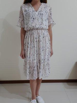 圖騰雪紡長洋裝