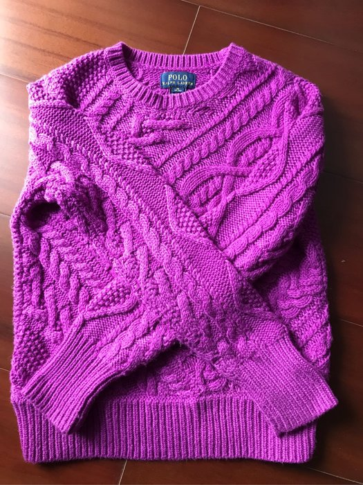 Polo Ralph Lauren童裝針織毛衣大童M號二手