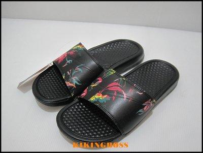【喬治城】NIKE女款 BENASSI JDI PRINT 拖鞋(黑)631261023