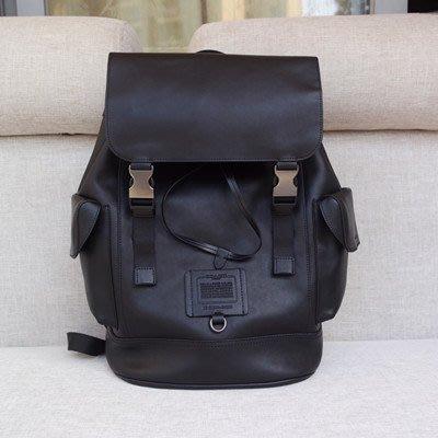恬恬精品 COACH 36080 新款男士雙肩包 拉繩便利扣封口大容量休閒包 後背包
